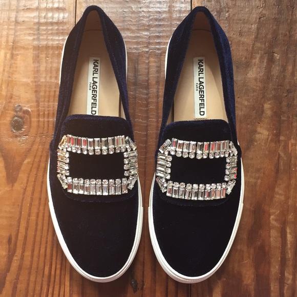 Karl Lagerfeld Ermine Velvet Sneakers